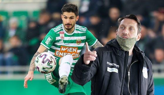 Marcel Ketelaer (r.) grub Fountas in der deutschen Regionalliga aus.