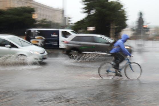 Vor allem auf Wien kommen große Regenmengen zu.