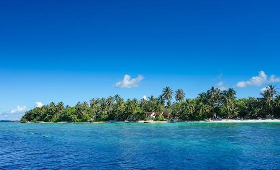 Eine Insel der Malediven: Österreich gibt Reisewarnung für das Urlaubsparadies aus.