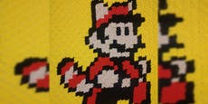 """So häkelst du eine """"Super Mario""""-Decke im C2C-Muster"""