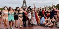 Nackt-Protest gegen Mager-Models in Paris
