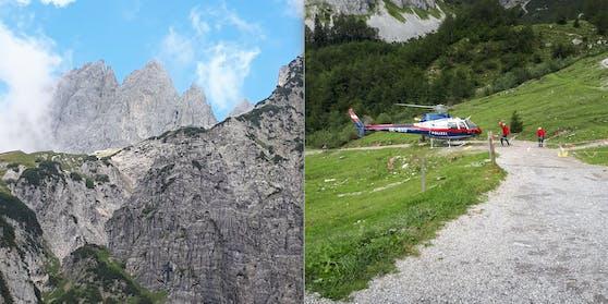 Der Alpinunfall ereignete sich am Donnerstag in Ellmau.