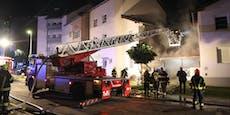 Zwei Verletzte bei Großbrand in OÖ, Fahndung läuft