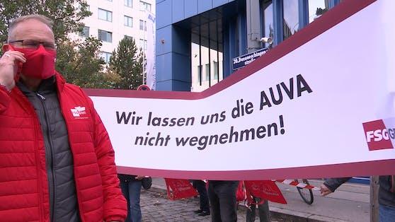 SPÖ-Protestaktion vor dem Lorenz Böhler Krankenhaus
