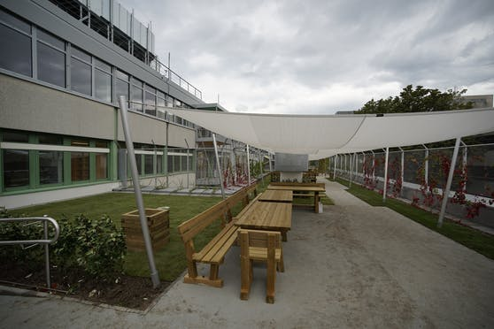 Der Dachgarten kann als Rückzugsort genützt werden.