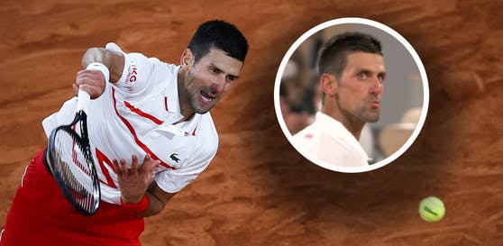 Novak Djokovic mit einem Küsschen bei den French Open.