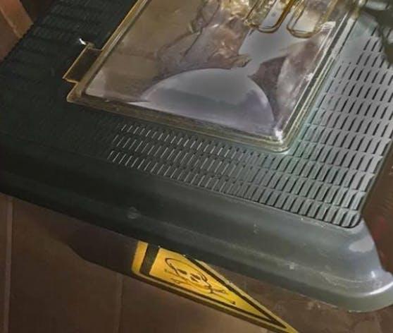 Der Mühlviertler hat die Schlangen in dieser Box gehalten. Folge ist eine Anzeige.