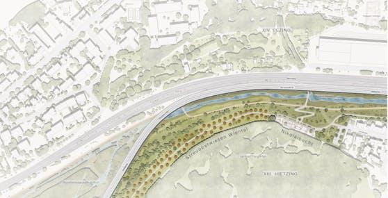 Die Pläne der TU Berlin sehen einen neuen Park und die Verringerung von fünf auf vier vier Spuren für die Westausfahrt vor.