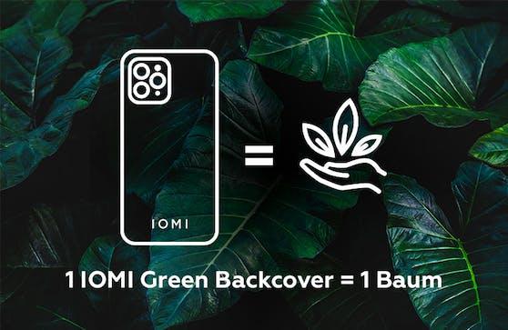 Ein IOMI-Green-Backcover bedeutet einen gepflanzten Baum.