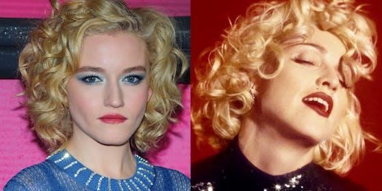 Die Ähnlichkeit ist verblüffend: Madonna (rechts, anno 1990) und Julia Garner (links)