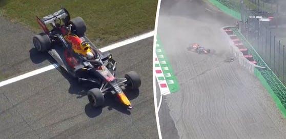 Max Verstappen ist im ersten Monza-Training abgeflogen.
