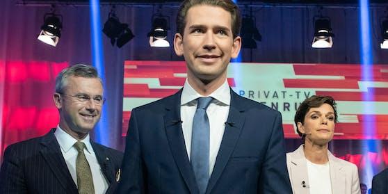 "Von ""Ampel-Chaos"" bis ""Insolvenz-Tsunami"": FPÖ (Norbert Hofer, links) und SPÖ (Pamela Rendi-Wagner, rechts) üben heftige Kritik an der Bundesregierung (Kanzler Sebastian Kurz, Mitte)."