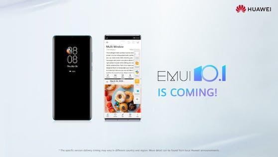Die Huawei-eigene Benutzeroberfläche wurde in der Version 10.1 erstmals bei der Einführung der Huawei P40-Serie im März dieses Jahres vorgestellt.