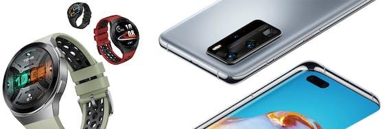 Huawei Watch GT 2e & die neue Huawei P40 Serie sind optimale und bewährte Begleiter für Fitness und Gesundheit.