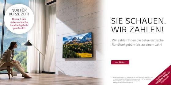 Bis zu 320 Euro geschenkt beim Kauf ausgewählter LG Smart TVs.