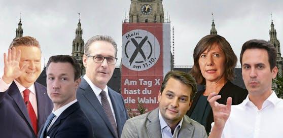 Wien-Wahl Spitzenkandidaten