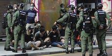 Hunderte Personen bei Demos in Hongkong festgenommen
