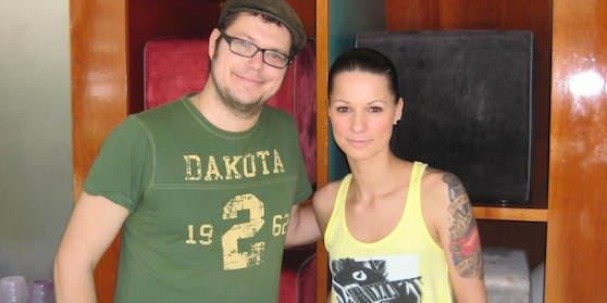 """Christina Stürmer mit Tattoo und """"Heute""""-Redakteur Jochen Dobnik"""