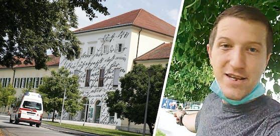 Der Steirer Horst G. (r) postete ein Wut-Video vor dem Spital.