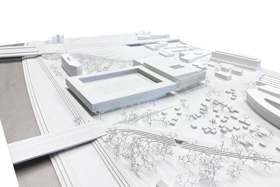 Neben dem Möbelhaus und auf dem Lager soll das Stadion entstehen.