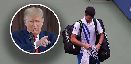 Die serbischen Medien schäumen: Wurde Djokovic wegen Trump disqualifiziert?