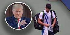 Medien wüten: Djokovic wegen Trump disqualifiziert?