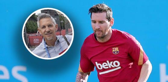 Gary Lineker hat eine humorvolle Theorie zum Wechsel-Theater rund um Lionel Messi.