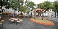 Hitzeinsel in Wien wurde zu cooler Spieloase für Kids