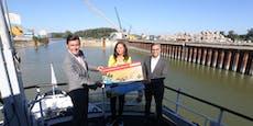 Riesen-Tor macht Alberner Hafen in Wien nun wasserdicht