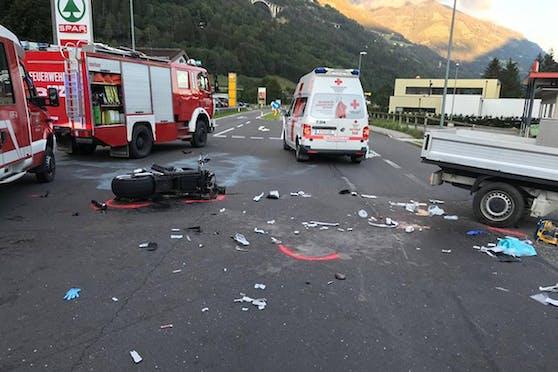Der Unfall ereignete sich nahe eines Supermarktes. (8. September 2020)