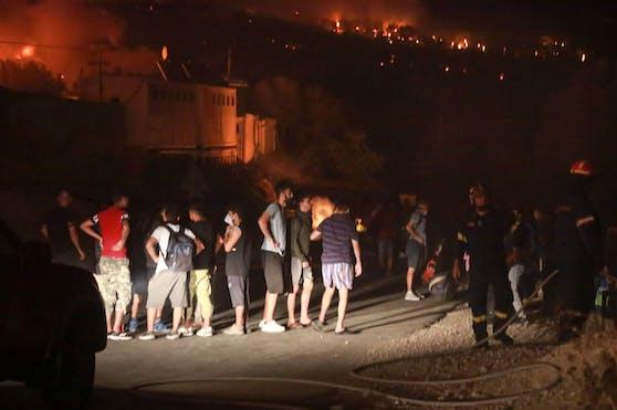 Das Flüchtlingslager Moria wurde ein Raub der Flammen. Rund 12.600 Menschen lebten dort.