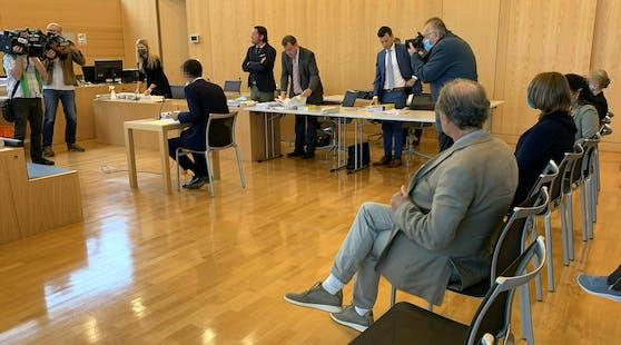 Angeklagte vor Gericht in Leoben