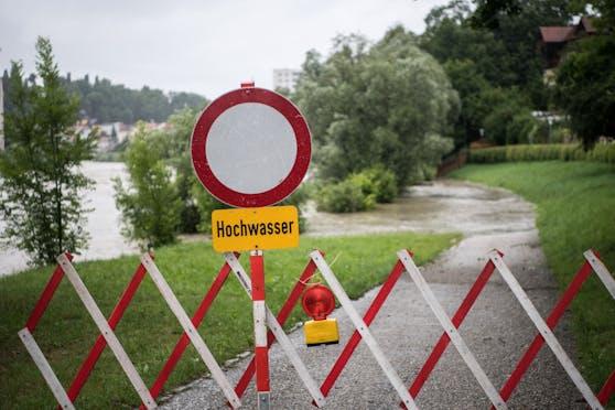 Hochwasser-Warnung. Archivbild.