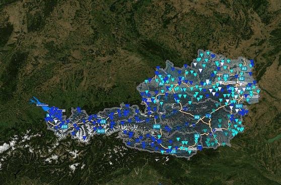 Flusspegel in Österreich