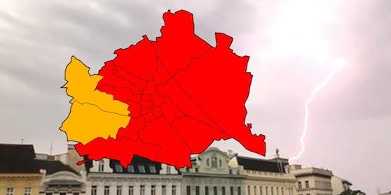Für 21 Bezirke gilt die rote Wetter-Warnstufe.