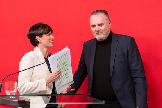 SP-Chefin Pamela Rendi-Wagner, Landeschef Hans Peter Doskozil