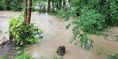 Ortschaften in NÖ von Hochwasser umschlossen