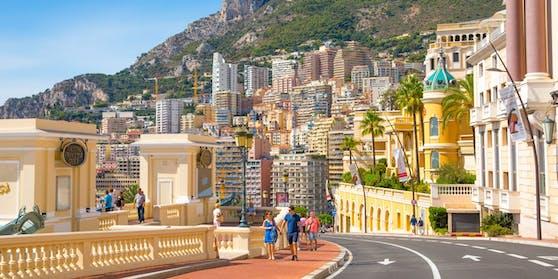 Eine Straße in Monaco, Monte Carlo