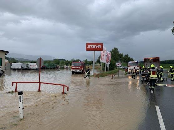 Die Überflutungen betreffen den gesamten Bezirk Scheibbs.