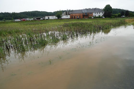Auch im Raum Wieselburg kam es zu Überschwemmungen.