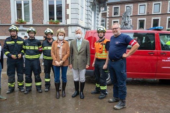 Belgisches Königspaar bedankte sich bei den Helfern aus NÖ
