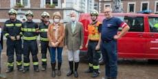 Belgisches Königspaar dankte NÖ Feuerwehr für Einsatz