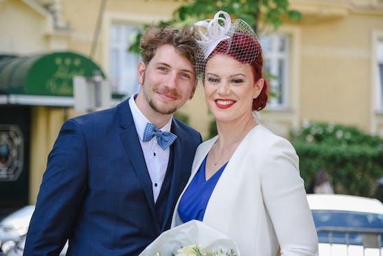 Laura Maria Hospes-Schneiderhan (31) mit ihrem Mann Tom Hospes (29).
