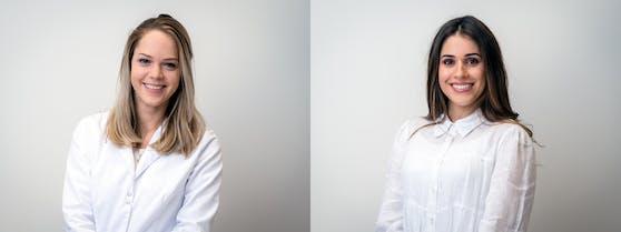 Haut-Therapeutin Ploon Hellendoorn (links) und medizinische Kosmetikerin Lilly Bellaroba.