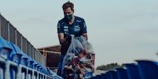 Vettel arbeitet nach Silverstone-Ausfall als Müllmann