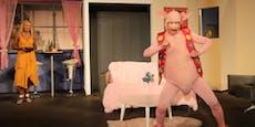 Beim Hochwasser hatte das Theater echt Schwein