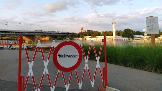 Hochwasser an der Neuen Donau