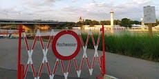 Hochwasser-Alarm! Badeverbot in der Neuen Donau