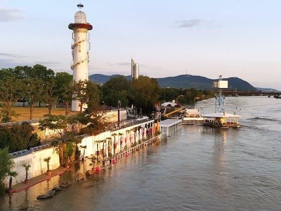 Hochwasser an der Neuen Donau in Wien