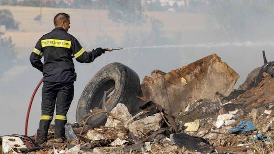 Feuerwehrmann in Griechenland